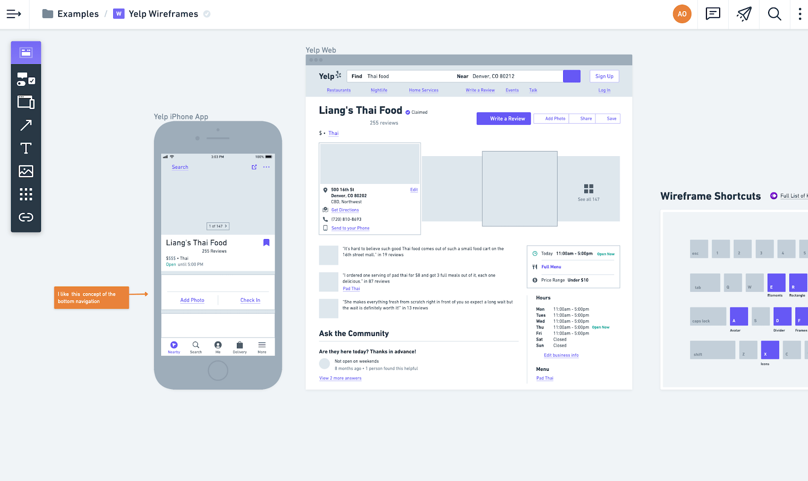Prototyping tool - Whimsical
