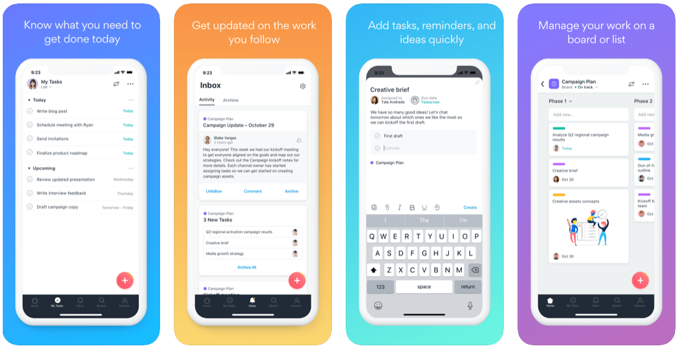 iOS application written in Swift - Asana