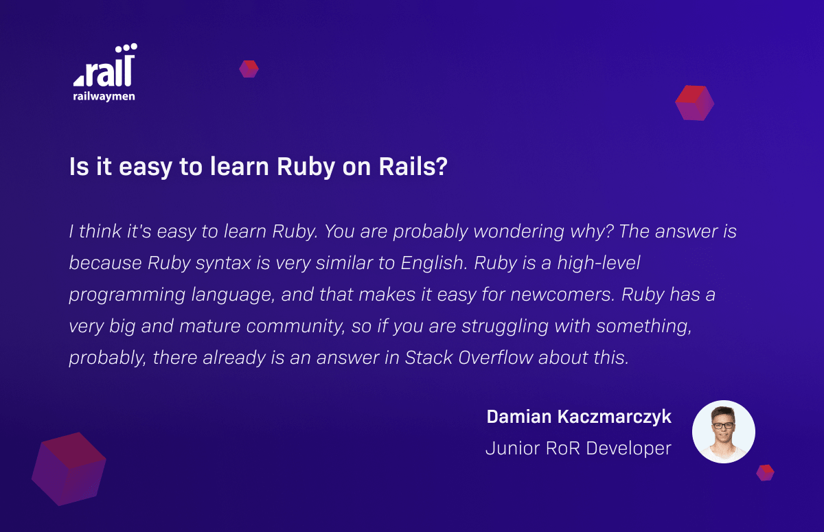 Is it easy to learn Ruby on Rails?