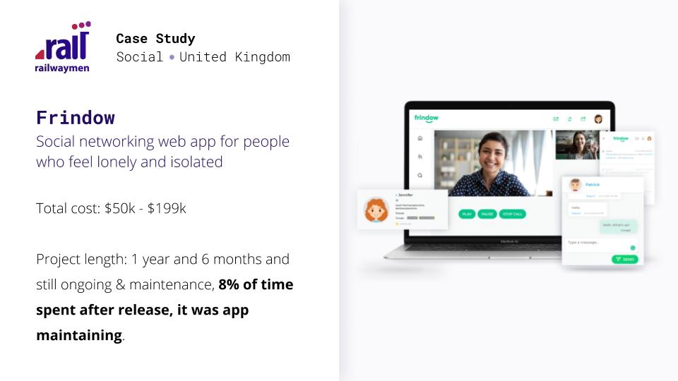Frindow case study - web app maintenance cost