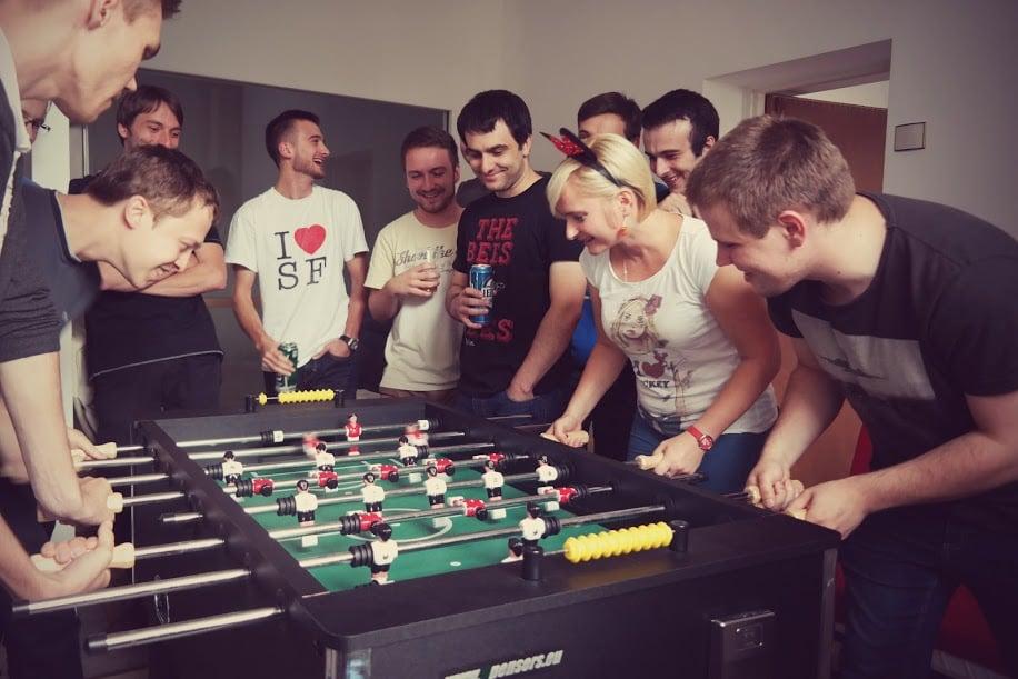 soccer game railwaymen IT team