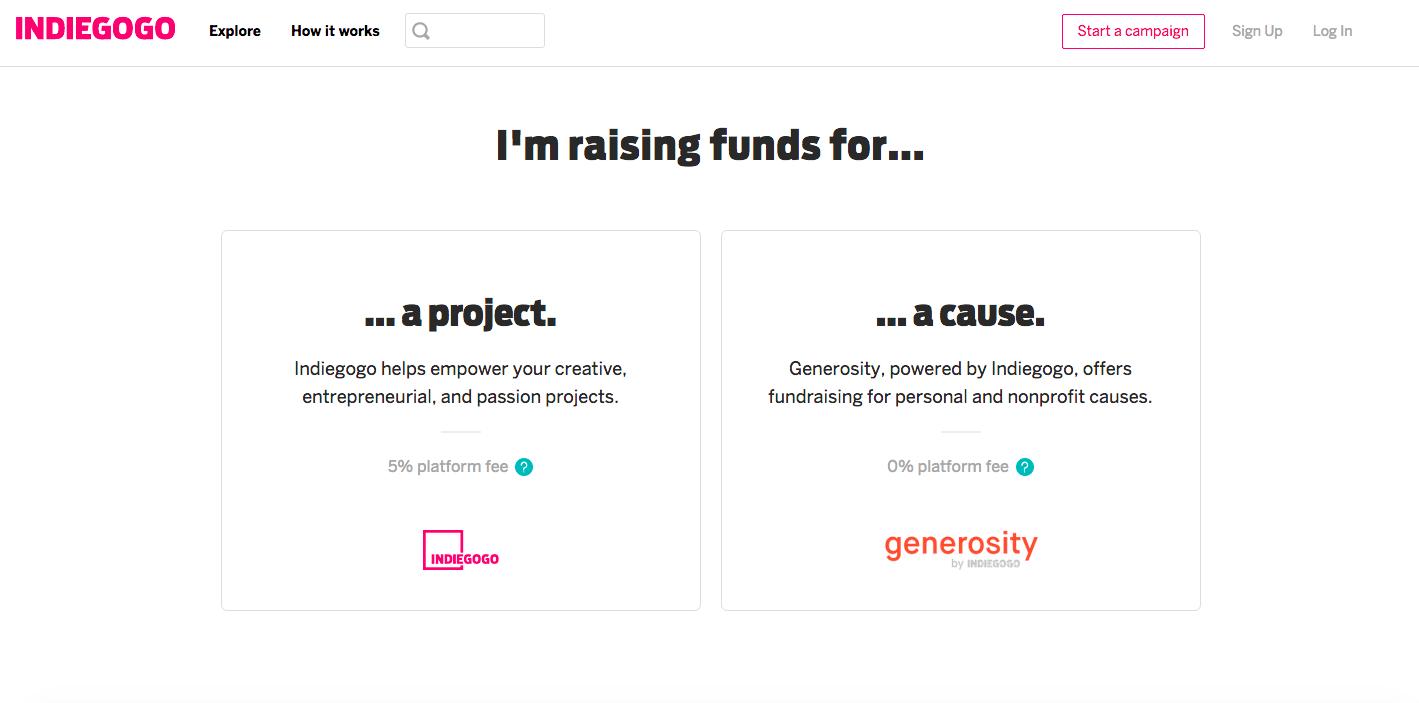 Sites based on Ruby - Indiegogo