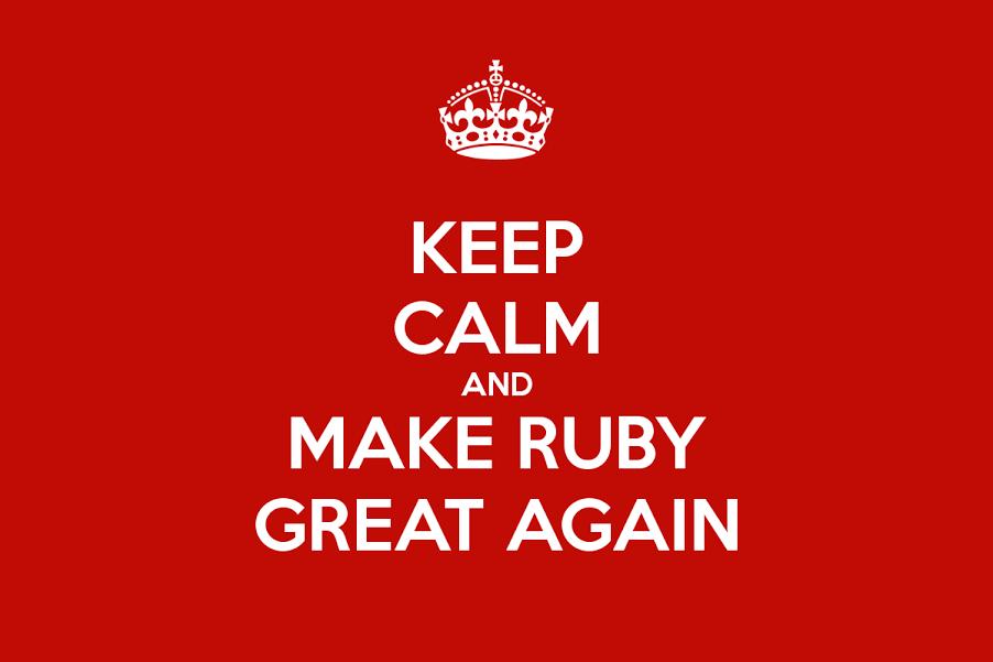 make ruby great again railwaymen