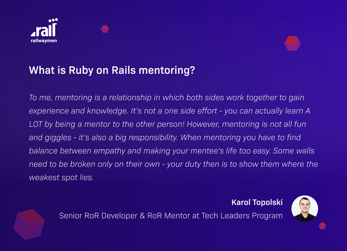 What is Ruby on Rails mentoring?
