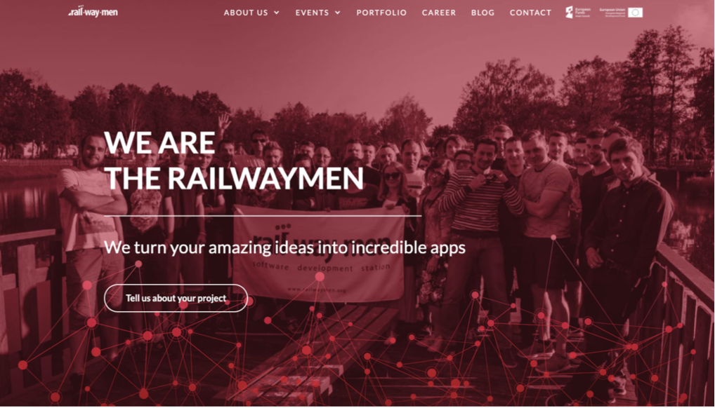 Our Railwaymen old website main page