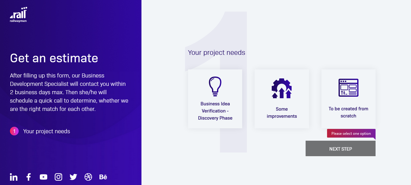 RWM-estimate-project-form