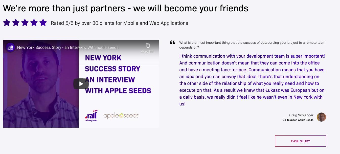 Railwaymen website redesign appleseeds