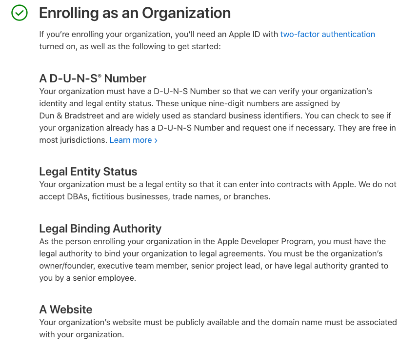What do you need to enroll in Apple Developer Program?
