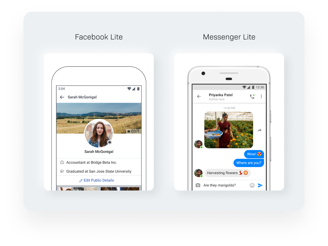App development cost estimate  - Facebook Lite, Messenger Lite