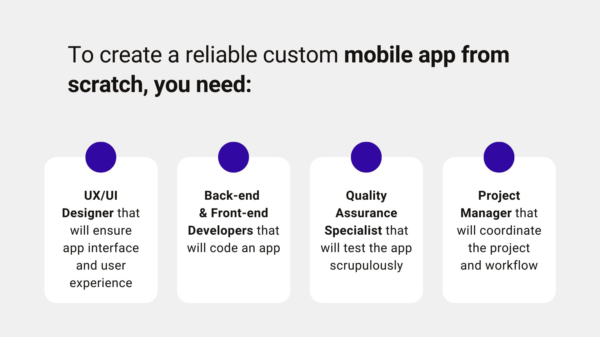social mobile app development steps